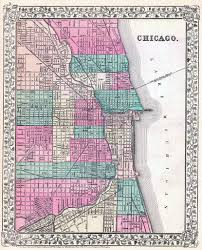 Chicago Map Art by File 1877 Mitchell U0027s Map Of Chicago Jpg Wikimedia Commons
