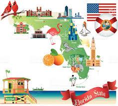 Map Of Flirida Cartoon Map Of Florida Stock Vector Art 467107162 Istock