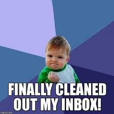 Inbox Meme - procrastination often leads to feelings of real accomplishment