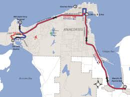 Washington State Printable Map by Route 410 Wa State Ferry March U0027s Point Skagit Transit
