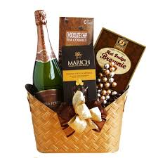 wine and chocolate gift basket gloria ferrer sparkling wine gift basket myfastbasket