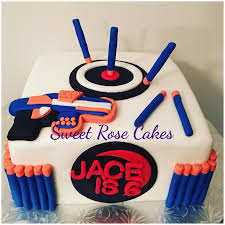nerf gun cake cakes pinterest nerf gun cake gun cakes and