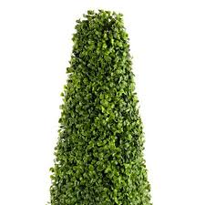 artificial plant boxwood box tree bush tower topiary synthetic
