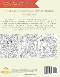 amazon magical unicorns fairies coloring book