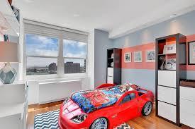 Step2 Corvette Bed Contemporary Kids Bedroom With High Ceiling U0026 Hardwood Floors In