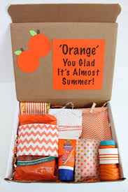gifts by mail happy mail orange you glad it s almost summer gift idea smashed