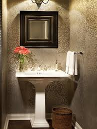wallpaper in bathroom ideas half bathroom design inspiration decor f graphic wallpaper