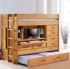 Bed On Top Desk On Bottom Foter - Trundle bunk bed with desk