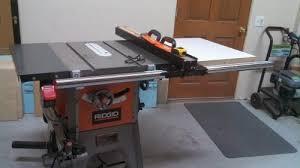 ridgid 13 10 in professional table saw ridgid 13 amp 10 in professional cast iron table saw r4512 at the