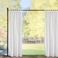 Curtain Panels Tab Top Semi Opaque Outdoor Curtain Panels White Improvements