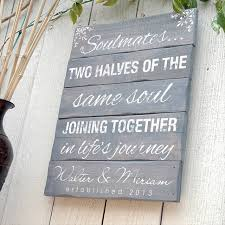 wedding plaques personalized wedding gift sign on wooden pallet for the home