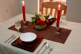 candle light dinner table setting decorating of party