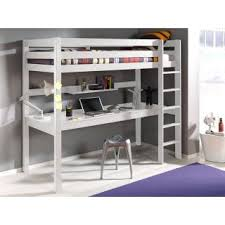 lit mezzanine bureau blanc lits chambre literie lit bureau mezzanine pino en pin vernis
