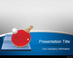 free table tennis powerpoint template is a free olympics sport