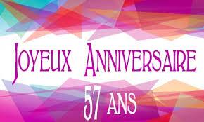57 ans de mariage carte anniversaire femme 57 ans virtuelle gratuite à imprimer