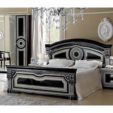 Black King Size Platform Bed Luca Home Black Silver Bed 1 685 Liked On Polyvore Featuring