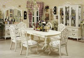 Antique White Dining Room Table And Chairs - White dining room table set