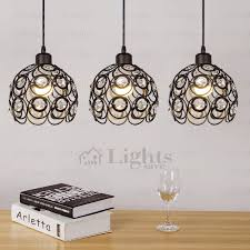 wrought iron ceiling lights wrought iron and crystal three light modern multi pendant lights