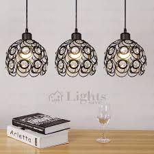 Black Iron Pendant Light Wrought Iron And Three Light Modern Multi Pendant Lights