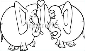 elephant love coloring page illustration of elephants in love coloring page
