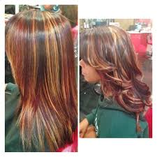 Red Hair Color With Highlights Pictures Blonde And Red Highlights In Black Hair Blonde Highlights Red Hair