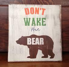 don u0027t wake the bear handpainted wood sign nursery decor kids