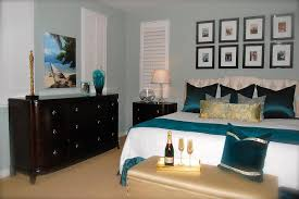 Decorating A Bedroom Dresser Green Wall Color With Teal Satin Toss Pillows For Traditional