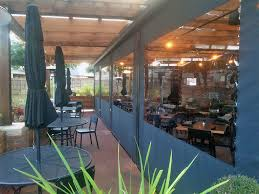 Clear Vinyl Patio Enclosure Weather Curtains by Motorized Patio Enclosures For Restaurants And Bars