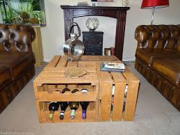 Wine Coffee Table Wine Crate Coffee Table Diy
