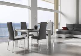 kitchen table glass top dining table set 4 chairs modern formal
