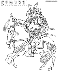 samurai coloring pages samurai wearing an yoroi coloring page free