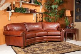 Custom Leather Sofas Gorgeous Curve Leather Buckskin Color Sectional Decor Ideas