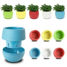 candy colourful mini slim round plastic plant flower pot home