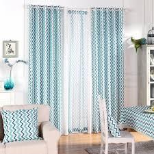 blue and white wave polyester print striped modern chevron