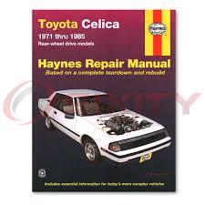 toyota celica haynes repair manual gts base st shop service garage
