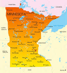 map of the state of usa vector color map of minnesota state usa royalty free cliparts