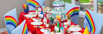 birthday party decorations ideas at home interior design rainbow themed birthday party decorations small