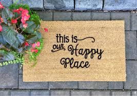halloween doormat this is our happy place door mat custom door mat painted