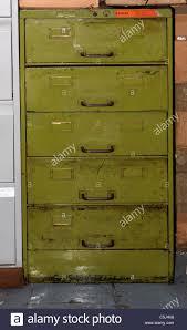 Yellow Metal Filing Cabinet Green Metal Filing Cabinet Stock Photo Royalty Free Image