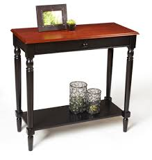 Foyer Table With Drawers Furniture Black Wooden Entryway Tables With Single Drawer And
