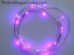 Battery Run Fairy Lights by Purple Birthday Party Lights Led The Iced Sugar Cookie