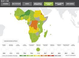 Nike Map The Heritage Foundation Index Of Economic Freedom