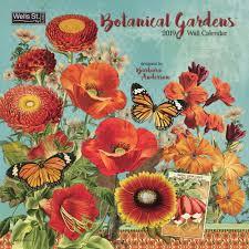 botanical calendars botanical gardens 2019 wall calendar calendars calendars