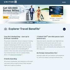 targeted united mileageplus explorer card 60k 100 churning