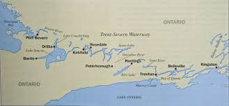 Map Of The Erie Canal Last Dance Trent Severn Canal