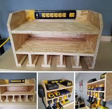 Diy Charging Station Garage Workbench Diy Garage Workbench And Storage Some Of Ideas