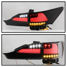 lexus is tail lights 2014 lexus ct200h light bar style led tail lights black smoked