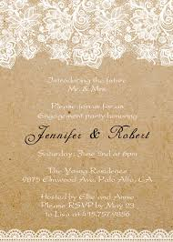 engagement party invites lace printed rustic custom engagement party invitations