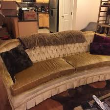 Velvet Sofa For Sale by Find More Vintage Gold Velvet Couch Sofa Cross Posted For Sale