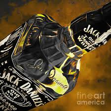 Jack Daniels Curtains Jack Daniels Painting By Gull G